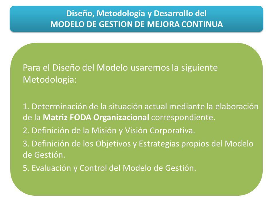 Para el Diseño del Modelo usaremos la siguiente Metodología: