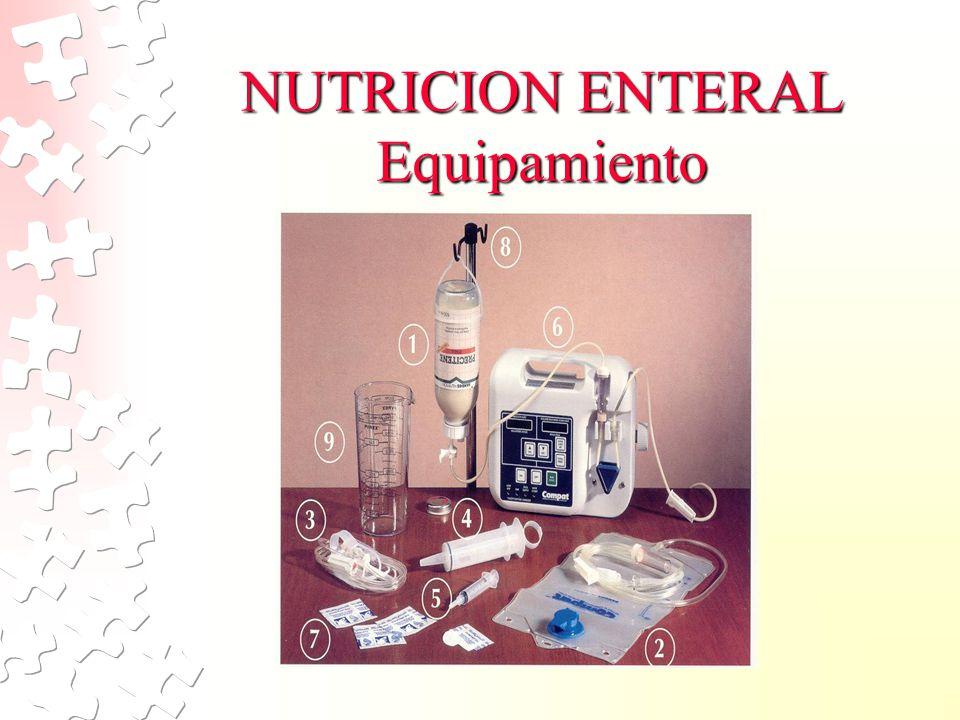NUTRICION ENTERAL Equipamiento