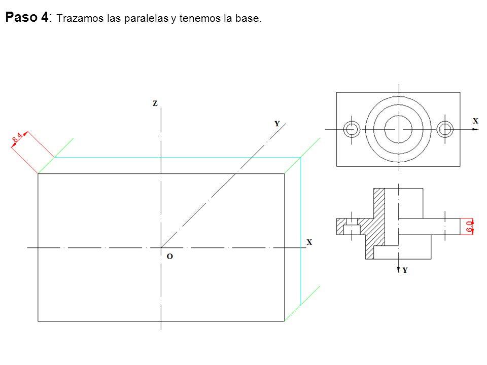 Paso 4: Trazamos las paralelas y tenemos la base.