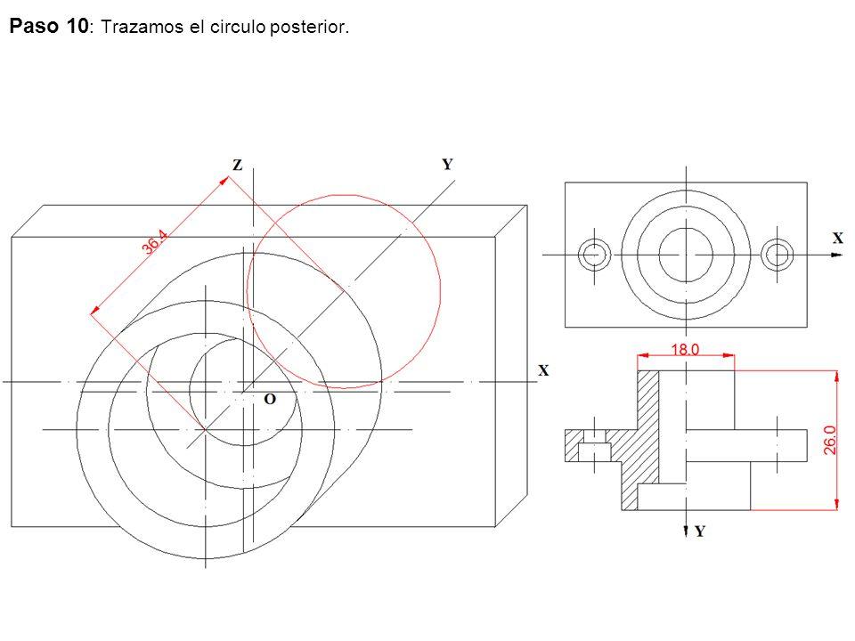Paso 10: Trazamos el circulo posterior.