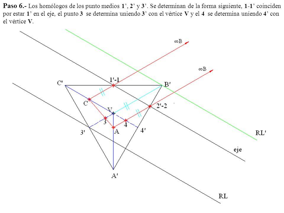 Paso 6. - Los homólogos de los punto medios 1', 2' y 3'