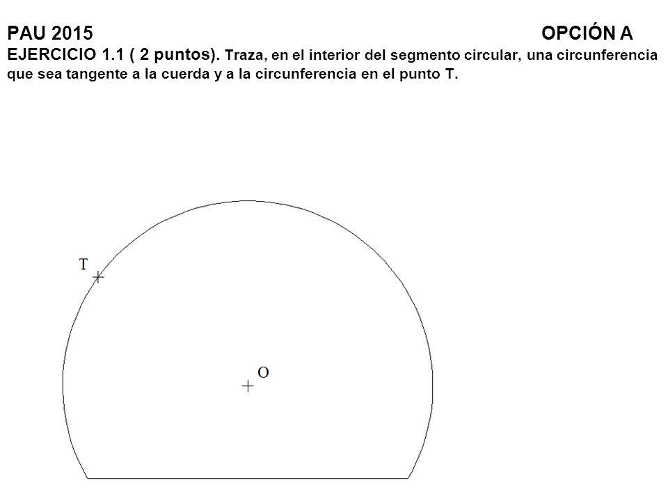 PAU 2015. OPCIÓN A EJERCICIO 1. 1 ( 2 puntos)