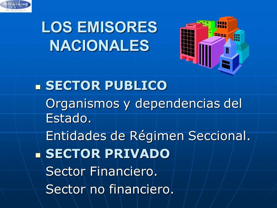 LOS EMISORES NACIONALES