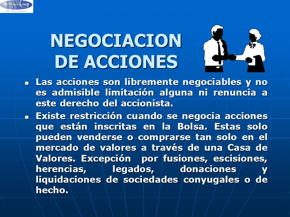 NEGOCIACION DE ACCIONES