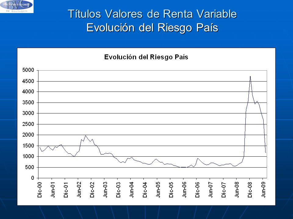Títulos Valores de Renta Variable Evolución del Riesgo País