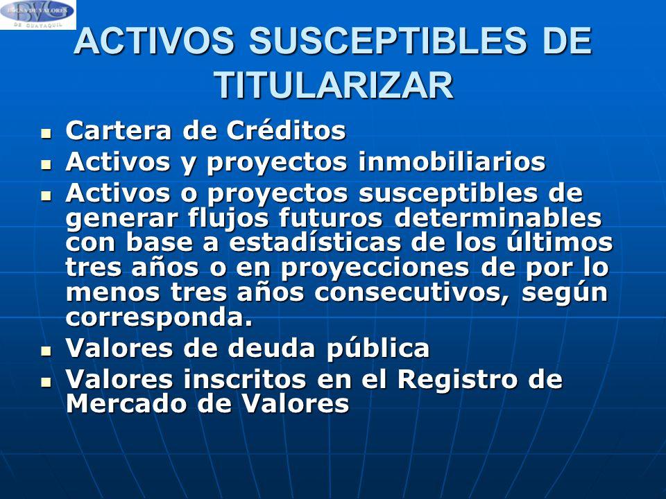 ACTIVOS SUSCEPTIBLES DE TITULARIZAR