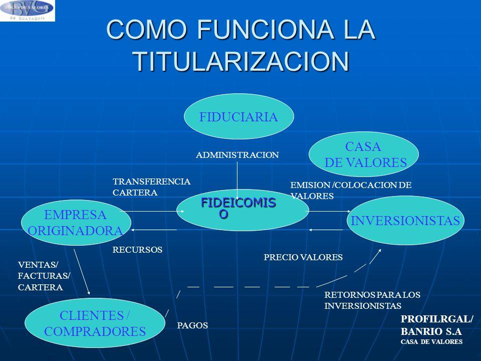 COMO FUNCIONA LA TITULARIZACION