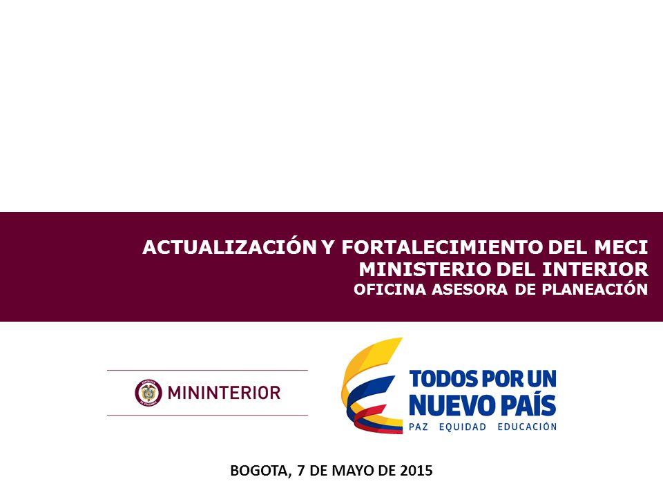 Actualizaci n y fortalecimiento del meci ministerio del for Cambios en el ministerio del interior