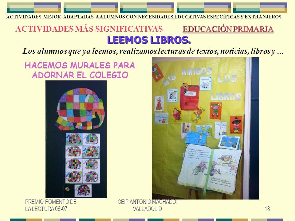 HACEMOS MURALES PARA ADORNAR EL COLEGIO
