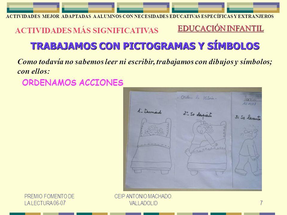 TRABAJAMOS CON PICTOGRAMAS Y SÍMBOLOS