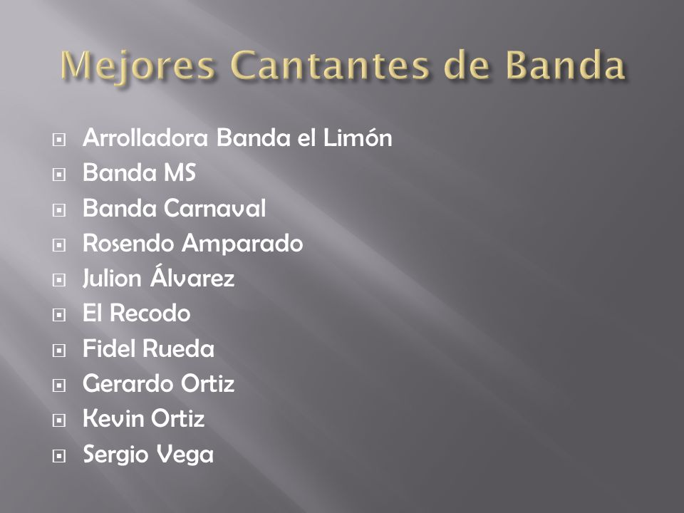 Mejores Cantantes de Banda