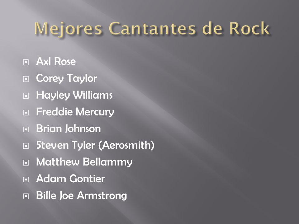 Mejores Cantantes de Rock