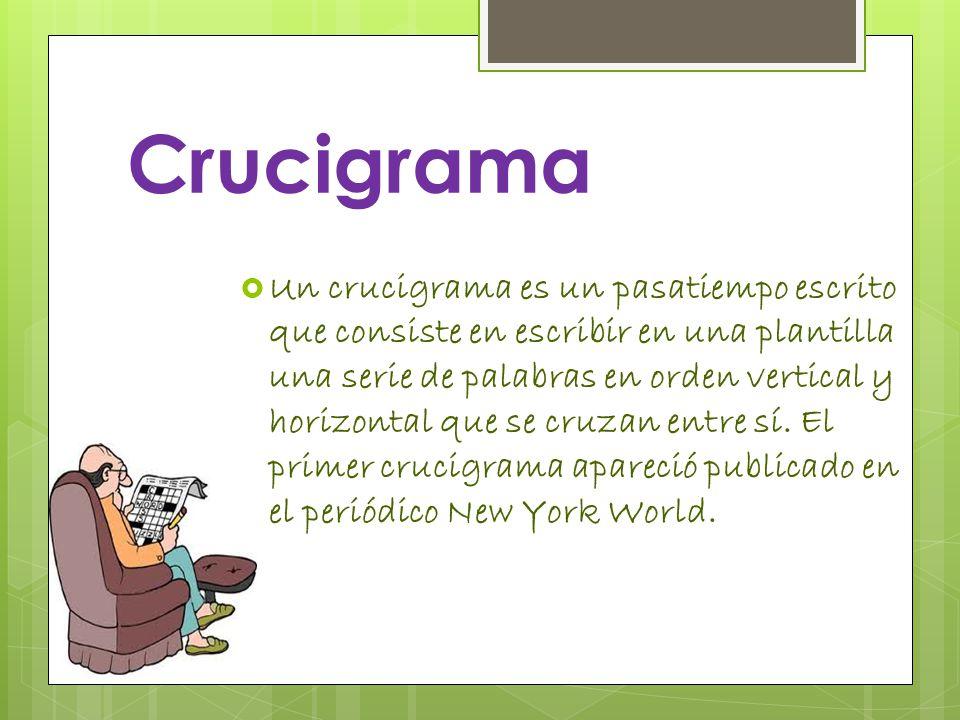 Crucigrama y Sopa de letras. - ppt descargar
