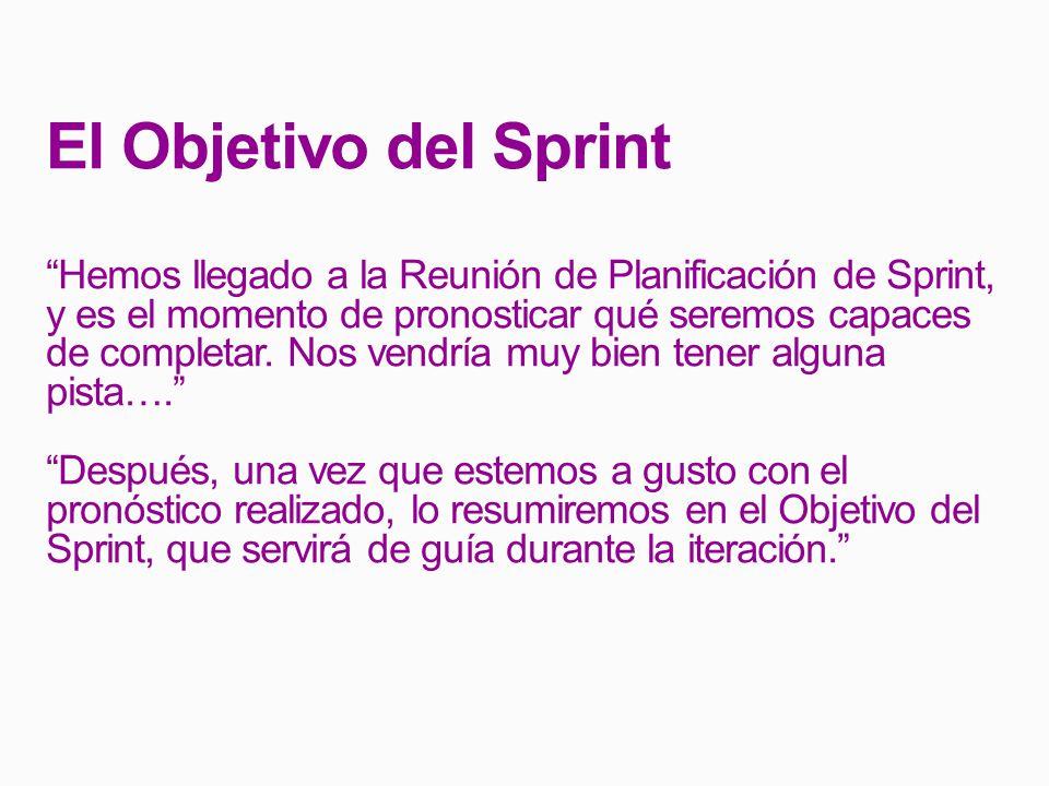 El Objetivo del Sprint