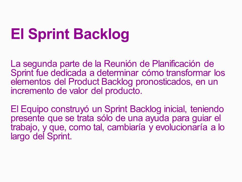 El Sprint Backlog