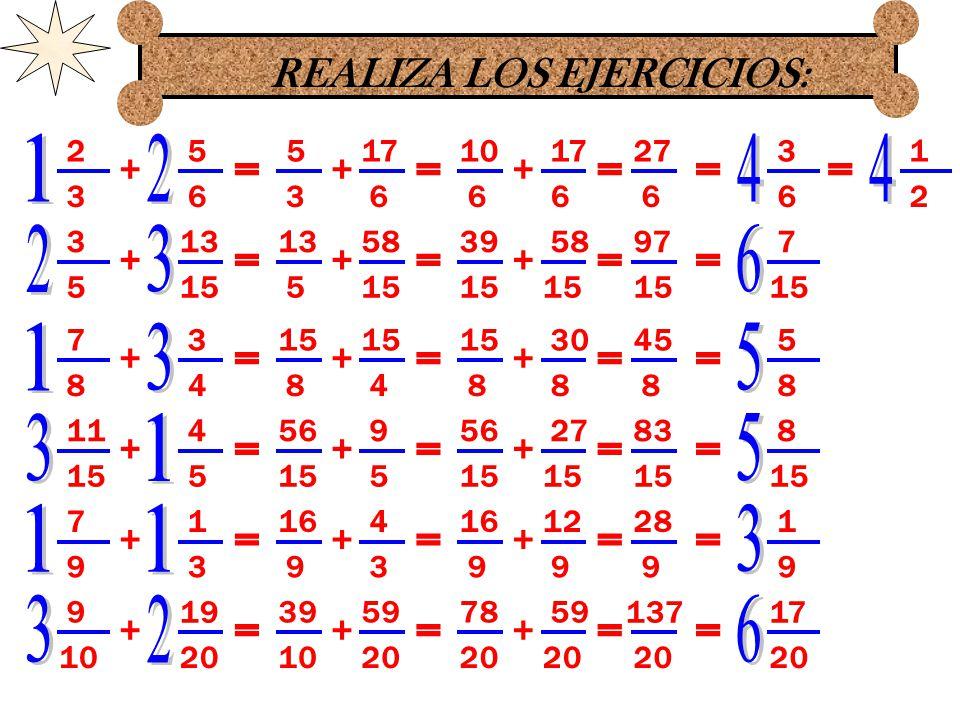 REALIZA LOS EJERCICIOS: