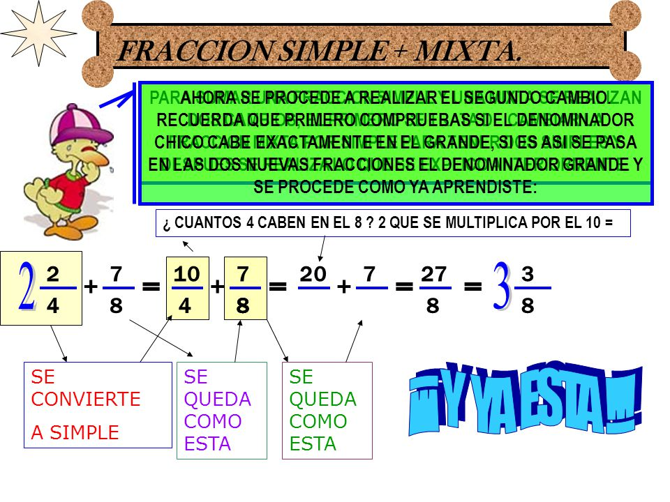 FRACCION SIMPLE + MIXTA.