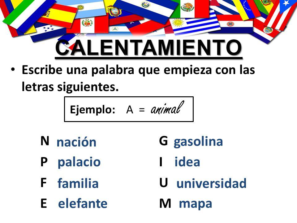 calentamiento animal N G P I F U E M nación gasolina palacio idea