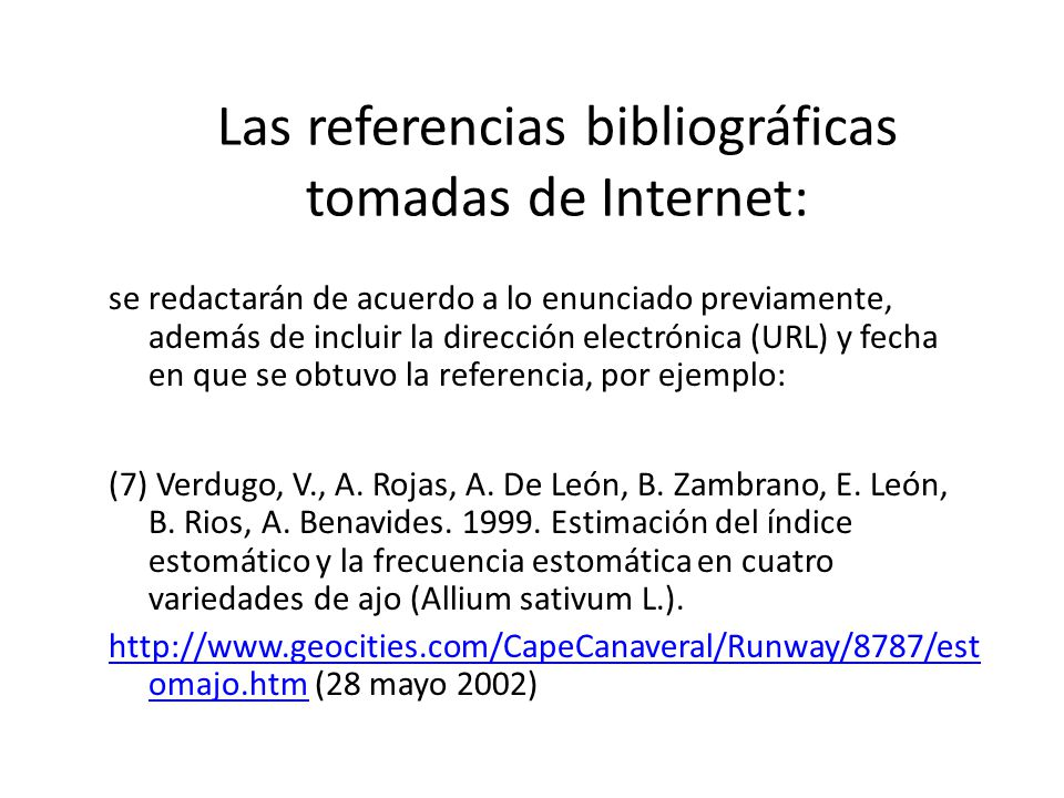 Citas textuales de internet ejemplos