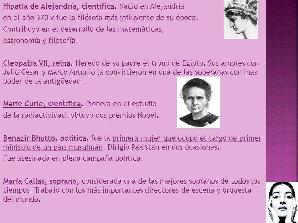 Hipatia de Alejandría, científica