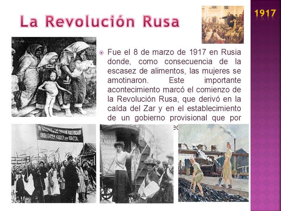 1917 La Revolución Rusa.
