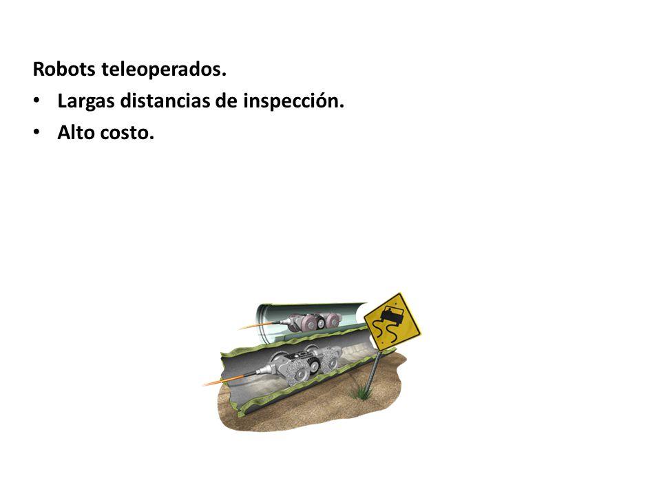 Robots teleoperados. Largas distancias de inspección. Alto costo.