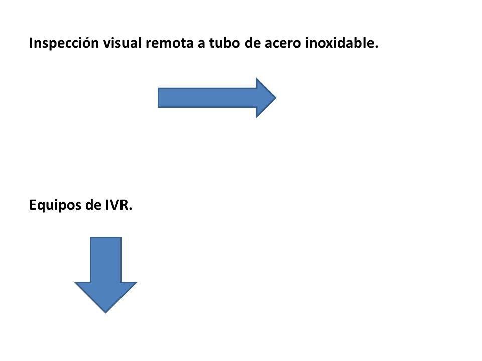 Inspección visual remota a tubo de acero inoxidable. Equipos de IVR.