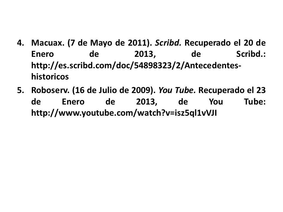 Macuax. (7 de Mayo de 2011). Scribd