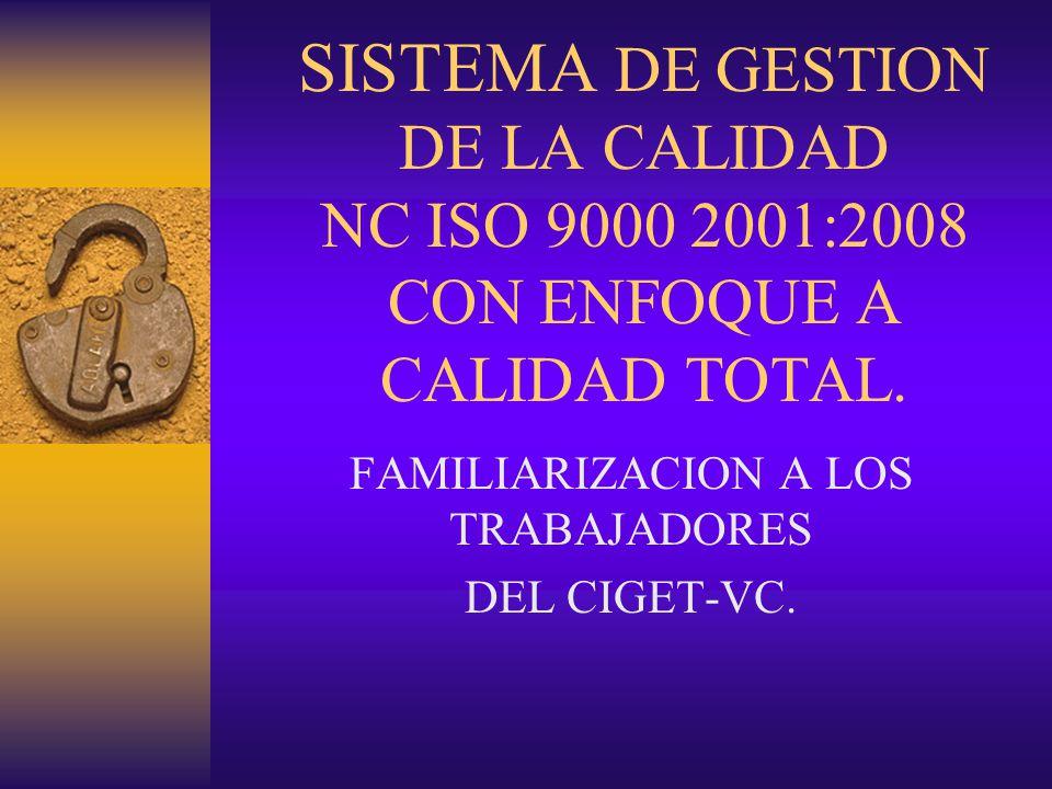 FAMILIARIZACION A LOS TRABAJADORES DEL CIGET-VC.