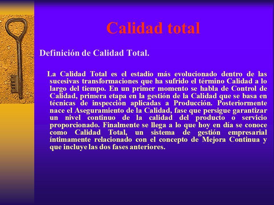 Calidad total Definición de Calidad Total.