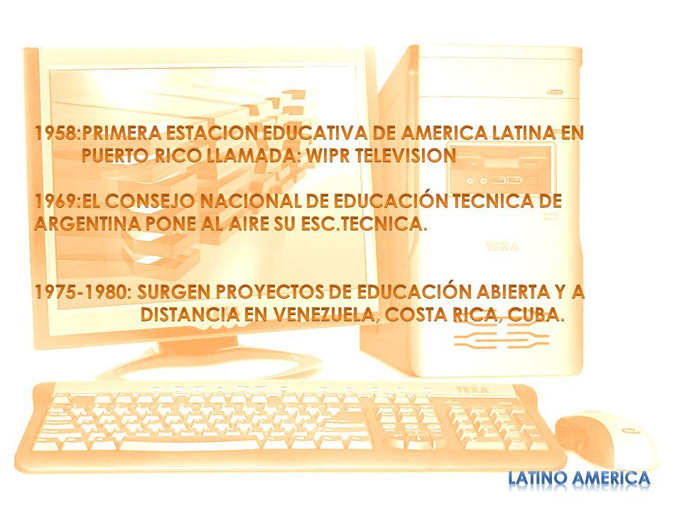 1958:PRIMERA ESTACION EDUCATIVA DE AMERICA LATINA EN
