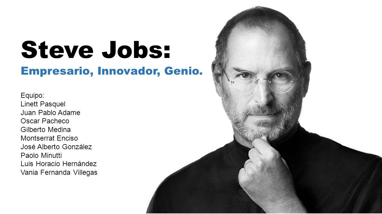 Steve jobs empresario innovador genio