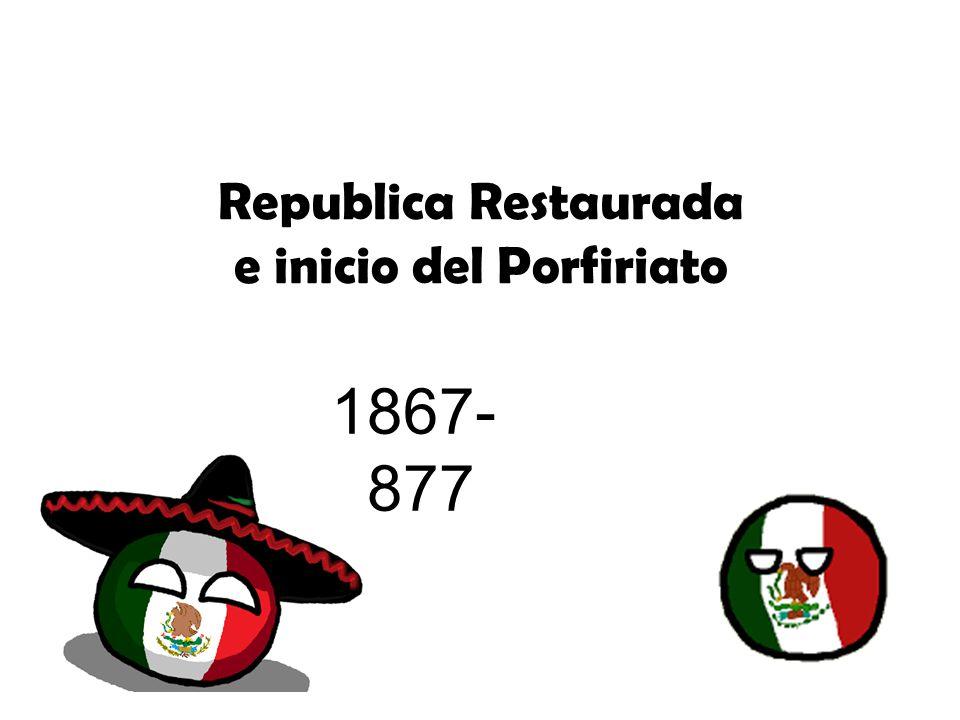 Republica Restaurada e inicio del Porfiriato