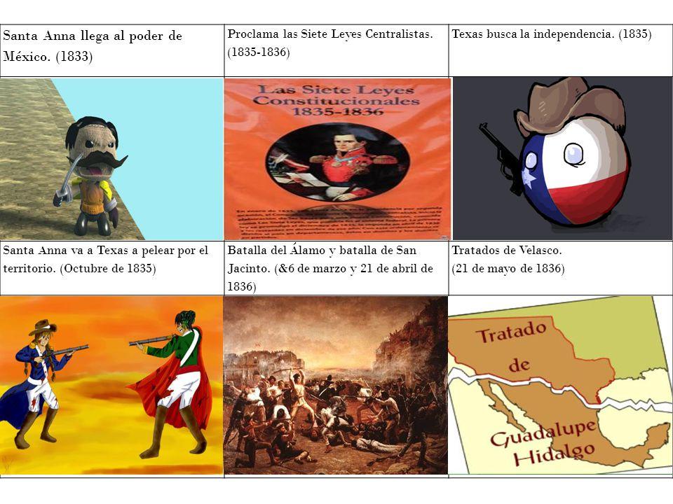 Santa Anna llega al poder de México. (1833)
