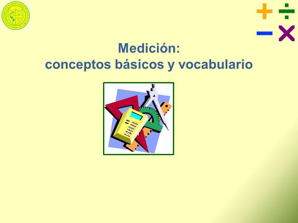 Medición: conceptos básicos y vocabulario