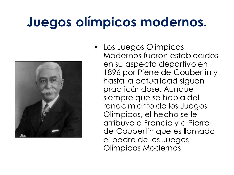 juegos olmpicos modernos