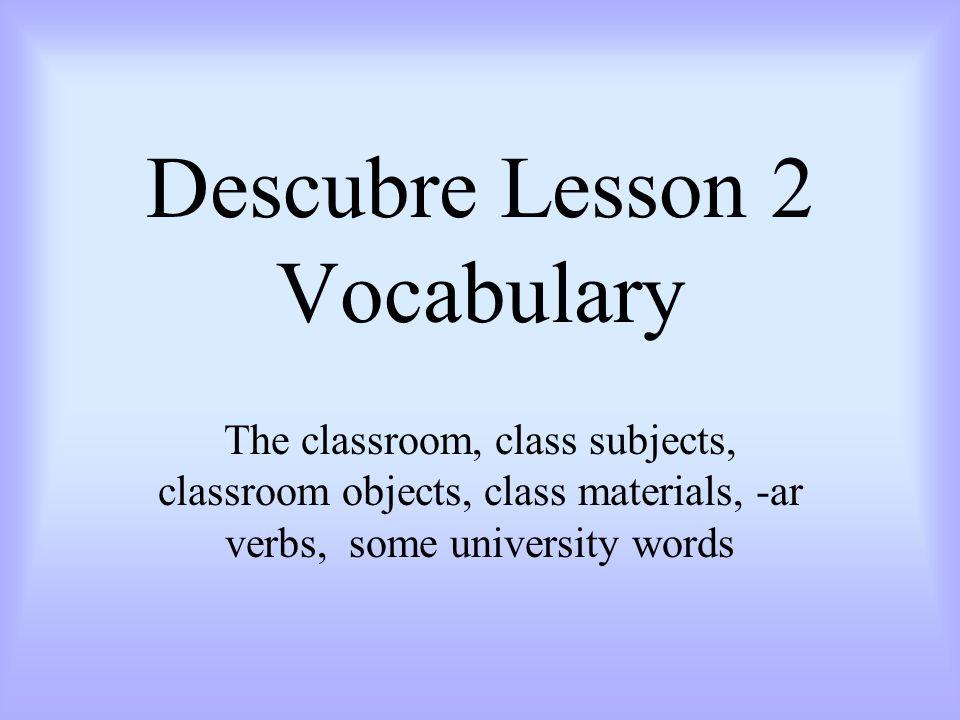 Descubre Lesson 2 Vocabulary