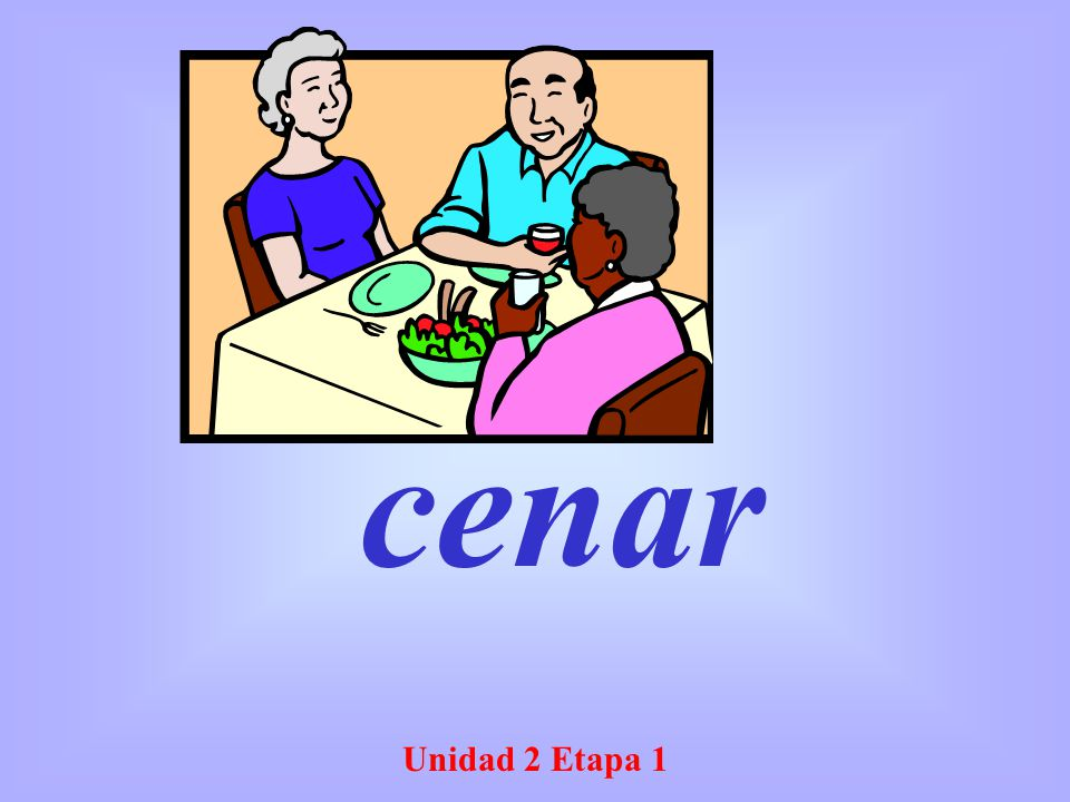 cenar Unidad 2 Etapa 1