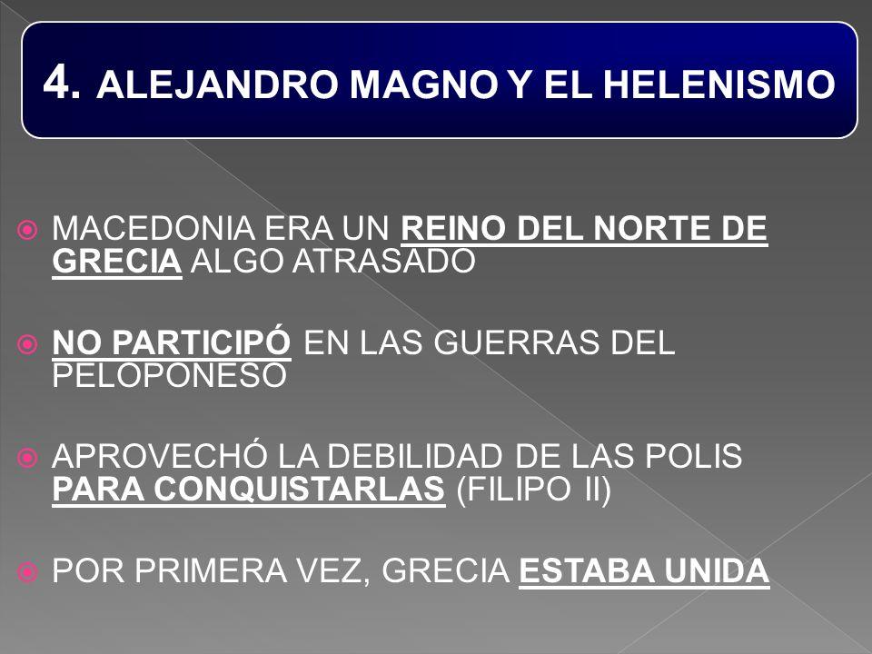 4. ALEJANDRO MAGNO Y EL HELENISMO
