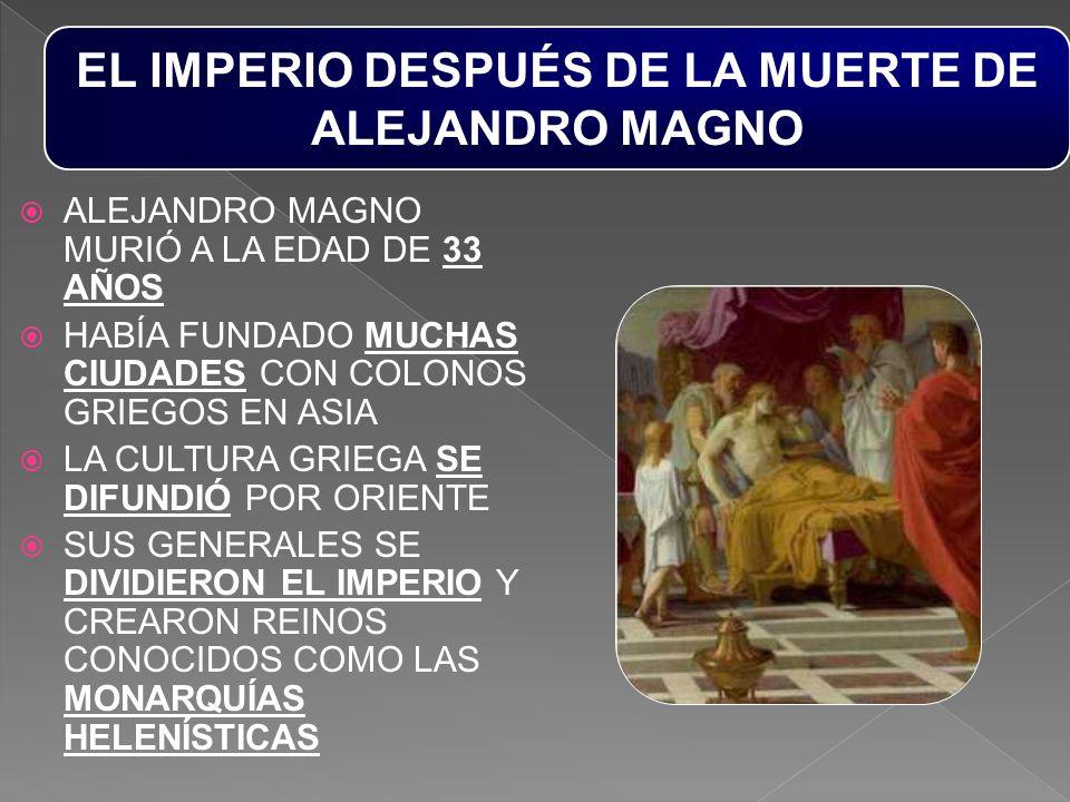 EL IMPERIO DESPUÉS DE LA MUERTE DE