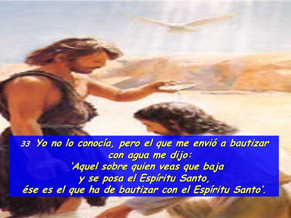 'Aquel sobre quien veas que baja y se posa el Espíritu Santo,