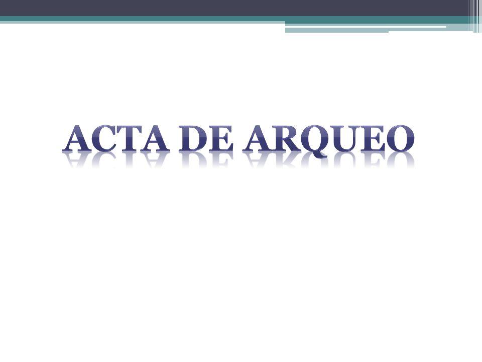 ACTA DE ARQUEO