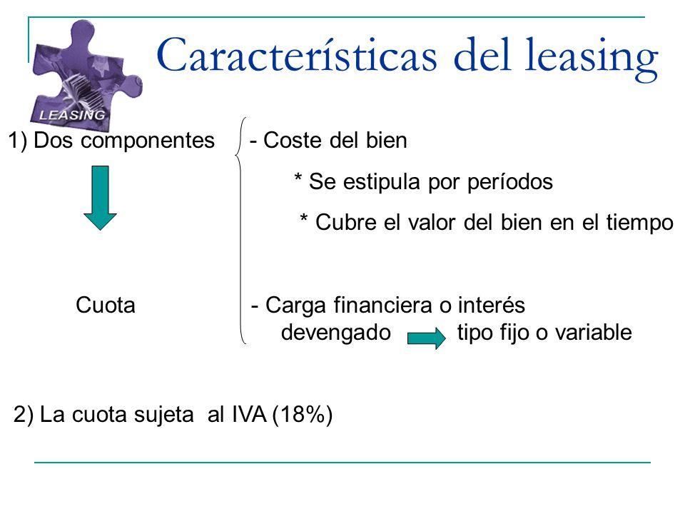 Características del leasing
