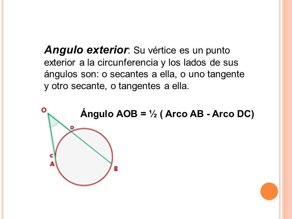 Circulo y circunferencia ppt descargar for Exterior tangente y secante