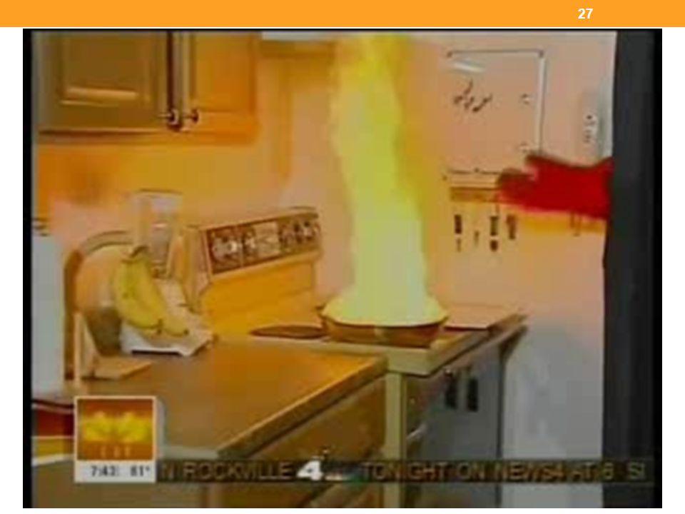 Un video con una entrevista en Today Show sobre la forma de apagar el fuego en un sartén.