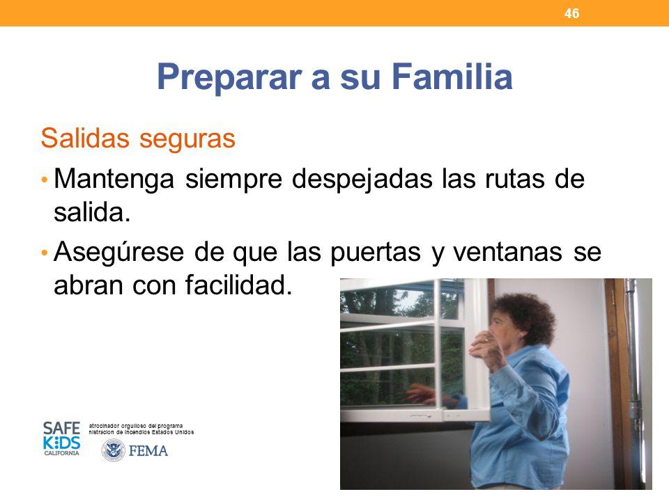 Preparar a su Familia Salidas seguras
