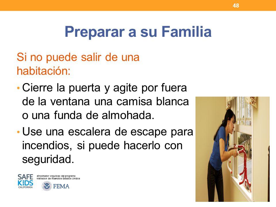 Preparar a su Familia Si no puede salir de una habitación: