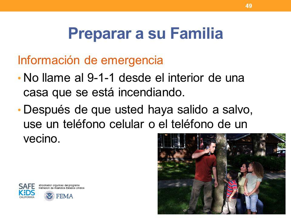 Preparar a su Familia Información de emergencia