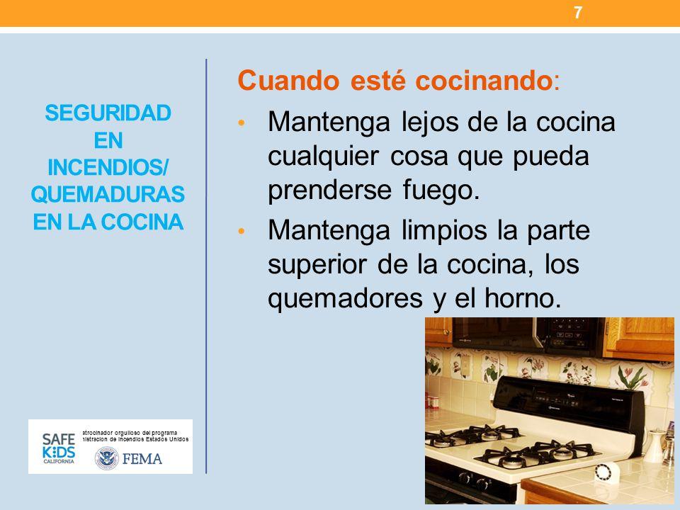 SEGURIDAD EN INCENDIOS/ QUEMADURAS EN LA COCINA