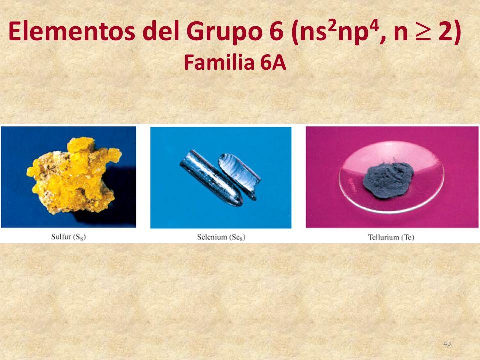 elementos del grupo 6 ns2np4 n 2 - Tabla Periodica Grupo 6 A